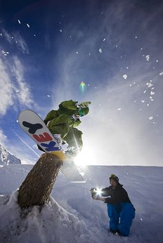 Some really cool snowboarding shots
