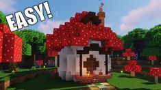 How to Build a Mushroom Starter House [ Building Tutorial