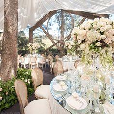 Spring garden romance wedding at Calamigos Ranch in Malibu.