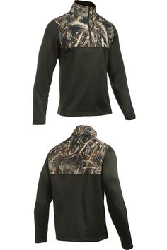 Shirts and Tops 177874: Under Armour Men S Lg Caliber 1 4 Zip Long Sleeve Artillery Green Realtree Max-5 -> BUY IT NOW ONLY: $34.99 on eBay!