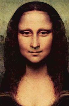 Mona Lisa looking at you with the same expression, smiling? crying? in love? angry?  sad? wow!  That is horrible to be so bound that you can only keep one expression all the time....I.