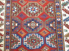 Antique Caucasian Kazak Shirvan Moghan Rug Runner Size 3'6''x7'7'' #Caucasian
