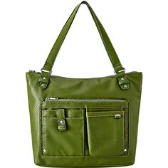 Relic Libby Shoulder Bag ($34) ❤ liked on Polyvore featuring bags, handbags, shoulder bags, green handbags, imitation purses, green purse, zipper purse and relic handbags