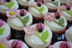 Hot Pink Ladybug Cupcakes | Flickr - Photo Sharing!