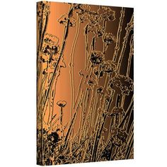 Dean Uhlinger In The Garden Gallery-Wrapped Canvas, Size: 14 x 18, Orange