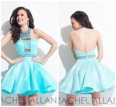 Rachel Allan 2015 A Line Halter Short Graduation Dresses Backless Sexy Rhinestones Beads Mini Customize Party Dress Gowns Girl School Cheap from First_lady_dress,$75.66 | DHgate.com