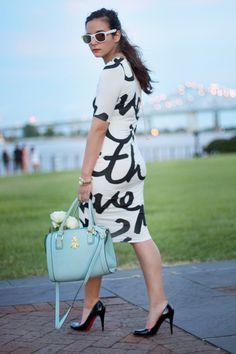 Typography Midi Dress