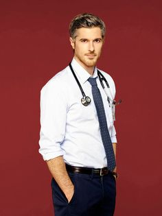 Dave Annable of the Red Band Society. I'd break my arm for him. Red Band Society, Celebrity Crush, Celebrity News, Dave Annable, Fall Tv Shows, Hot Doctor, Men In Uniform, Poses, Attractive Men