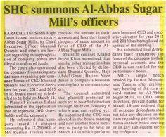 SHC summons Sugar Mills officers