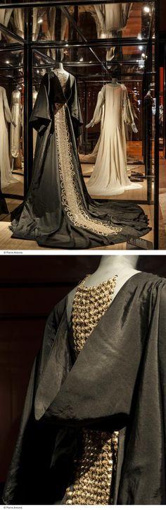Jeanne Lanvin coat with sequins 1937 http://parisdiarybylaure.com/jeanne-lanvins-past-glitter/