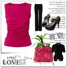 """Vday work outfit"" by krissyd80 on Polyvore"