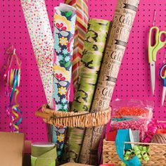 Be prepared for any gift wrap emergency! Always have plenty of fabulously functional gift wrap and wrapping accessories on hand, like these from The gift Wrap Company. www.giftwrapcompany.com