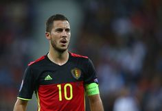 Eden Hazard of Belgium during the UEFA EURO 2016 Group E match between Belgium and Italy at Stade des Lumieres on June 13 2016 in Lyon France