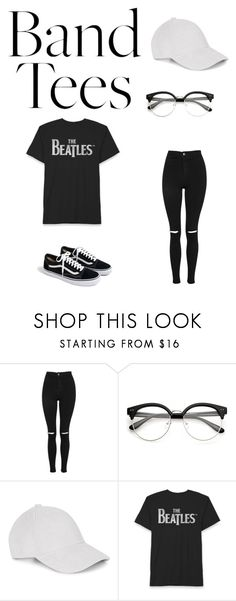 """""""I'm With the Band: Band T-Shirts"""" by bonolon on Polyvore featuring Topshop, Le Amonie and J.Crew"""
