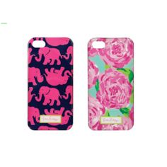 Lilly Pulitzer iPhone 5/5S Cases<< I have the elephant print on my lunch box!!