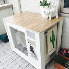 Air Conditioner Cover, Diy Bench, Front Yard Landscaping, Wooden Diy, Storage Organization, Landscape Design, New Homes, Diy Projects, Furniture