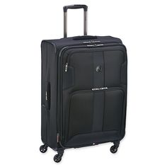 Durable and lightweight with plenty of organization options, the DELSEY Sky Match Upright Suitcase is perfect for the well-organized traveler. Equipped with 3 front pockets for maximum organization, and a back pocket to store a magazine or jacket. Luggage Store, Luggage Sets, Lightweight Luggage, Checked Luggage, Carry On, Suitcase, Sky, Paris, Black