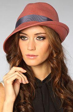 Grace Hats Tokyo The Asymmetry Felt Hat in Pink - MissKL...cute fedora