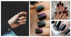 Marzysz o pięknych i zadbanych paznokciach, w dodatku z modnym w tym sezonie akcentem? #paznokcie czarne matowe #matowe #paznokcie #kobieta