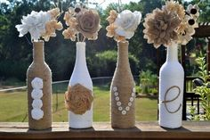 upcycled wine bottles vase creative flower ideas