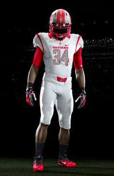21df5aa6d Rutgers Nike - White on white - standing front. Team Uniforms