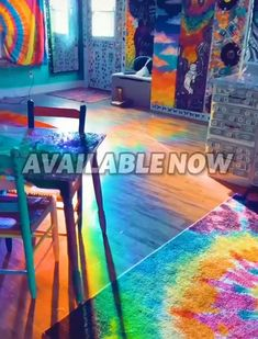 Room Ideas Bedroom, Bedroom Decor, Meubles Peints Style Funky, Rainbow Room, Rainbow House, Deco Surf, Chambre Indie, Deco Studio, Indie Room Decor