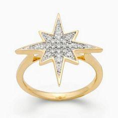 JLove by Jennifer Lopez 10k Gold 1/7-ct. T.W. Diamond Starburst Ring