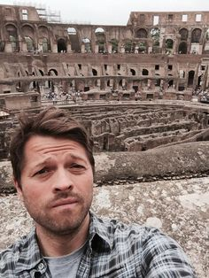 @mishacollins at the Colluseum in Rome!
