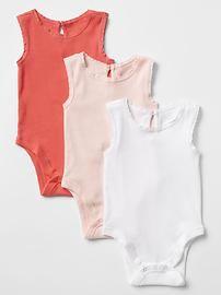 Lace-trim tank bodysuit (3-pack)