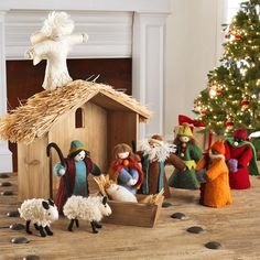 Handmade Felt Nativity - Stable from Wisteria Christmas Jesus, Christmas Nativity Scene, Christmas Hanukkah, Christian Christmas, Felt Christmas, Christmas Time, Christmas Crafts, Nativity Scenes, Nativity Stable