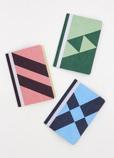 THE 3 DIAGONALS - 3 pocket notebooks by Papier Tigre
