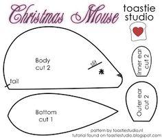 Christmas Tutorial Advent {Christmas Felt Mouse} - Handmade Cuddles
