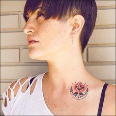 Caribbean Queen Anchor Tattoonie #temporarytattoo #tattoonie #t4aw #tattoos