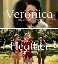 Heathers Name Meanings Part Veronica Heathers, Jd And Veronica, Heather Name Meaning, Veronica Name Meaning, Theatre Nerds, Musical Theatre, Musical Hamilton, Amy, Heathers The Musical