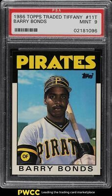1986 Topps Traded Tiffany Barry Bonds Rookie Rc 11t Psa 9 Mint In 2021 Barry Bonds Baseball Cards Baseball Cards For Sale