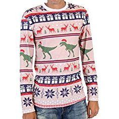 Ugly Christmas Sweater Dinosaur T Rex Pattern