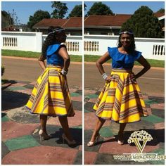 Venda Traditional Attire, Traditional Dresses, Ankara Short Gown Styles, Short Gowns, African Attire, African Dress, Skirt Fashion, Fashion Dresses, African Fabric