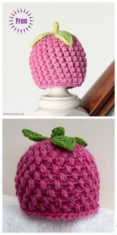 Crochet hats 447615650462428870 - Crochet Baby Raspberry Hat Free Crochet Pattern Source by Urgestein Crochet Baby Blanket Beginner, Crochet Baby Hat Patterns, Crochet Kids Hats, Crochet Beanie, Easy Crochet, Free Crochet, Knitted Baby Hats, Crochet Baby Stuff, Crochet Baby Mittens