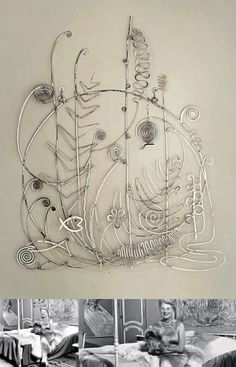 """Silver Bed Head ~ """"Winter"""" ~ by Alexander Calder.  Silver.  1945 - 46.  63 × 51 9/16 inches (160 × 131 cm) 