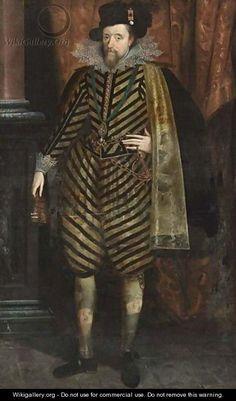 James I in diagonal stripes
