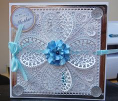 Mother card using tattered lace dies
