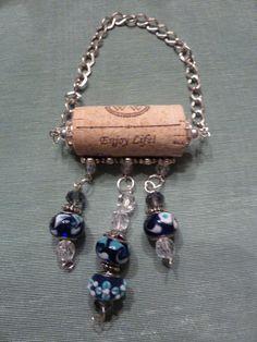 Custom Order Glass Beaded Cork Necklace by TheBeadedCork on Etsy