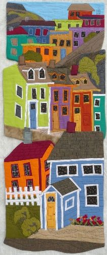 Colours To Live By, 18 x by Marianne Parsons. Exhibitions of the Fibre Art Network > Abstracted Patchwork Quilting, Applique Quilts, Quilting Projects, Quilting Designs, Fiber Art Quilts, Quilt Modernen, Landscape Quilts, Illustration, Art Plastique