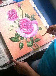 Curso de Pintura da profe Sol. Linda Rosa feita pela Bel...