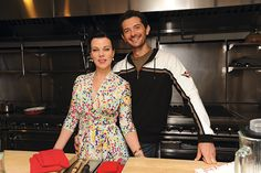 Love & Tofu | Debi Mazar and her husband, chef Gabriele Corcos | Courtesy of House Foods America | Organic Spa Magazine