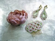 コサージュ・髪飾り・イヤリング Kawaii Accessories, Hair Accessories, Recycled Rubber, Leather Jewelry, Beaded Earrings, Diy Design, Diy And Crafts, Pattern, Gifts