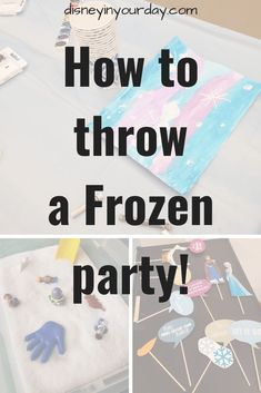 Have a good time with the kids by throwing a Frozen Party! Crafts, decorations, snacks, activities, a photobooth, and more ideas perfect for all ages.