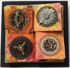 ANNETTE IN OZ: Springy Thingy Steampunk Card Tutorial / Tipnique Tuesday