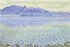 Hodler - Thunersee mit Stockhornkette -1904 - Ferdinand Hodler - Wikimedia Commons