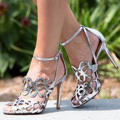 Schutz Darleneh Silver Sandals/Sandalias plateadas